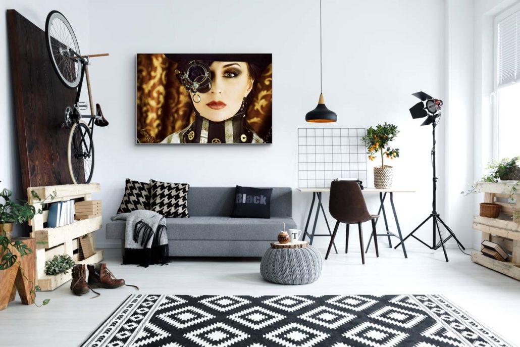 Akustikbild für zuhause Stoffklang