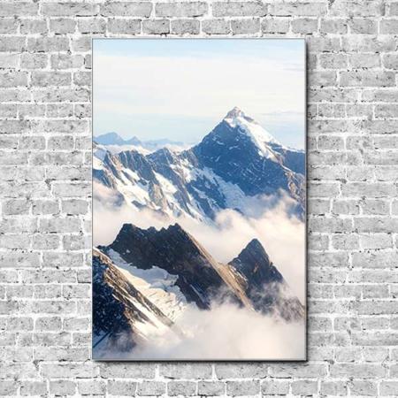 Stoffklang Akustikbild Hochformat Wand Berge Neuseeland