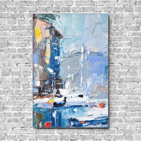 Stoffklang Akustikbild Hochformat Wand Frank Wagner Malerei Yachthafen