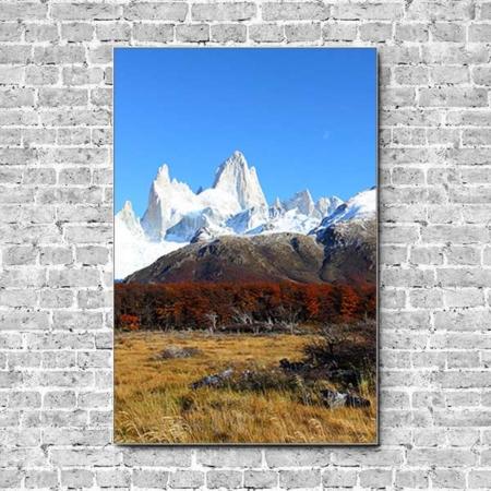 Stoffklang Akustikbild Hochformat Wand Los Glaciares