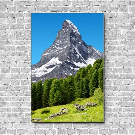 Stoffklang Akustikbild Hochformat Wand Matterhorn