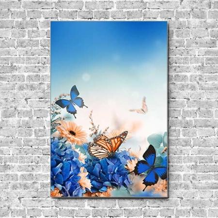Akustikbild Schmetterling auf Hortensie Hochformat