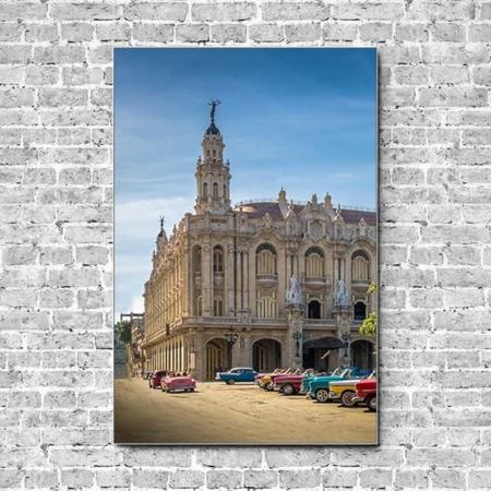 Stoffklang Akustikbild Hochformat Wand Theater Havana