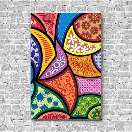 Stoffklang Akustikbild Hochformat Wand abstrakte Muster