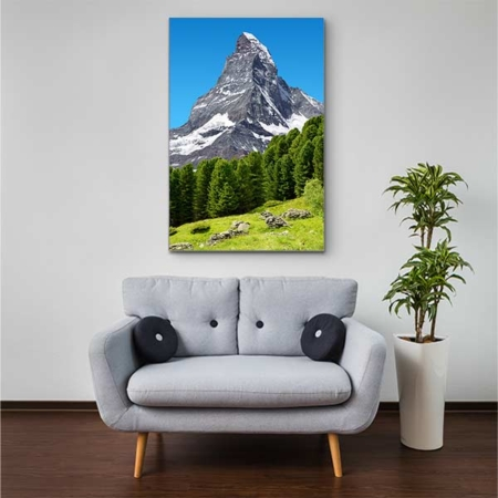 Stoffklang Akustikbild Hochformat Zimmer Matterhorn