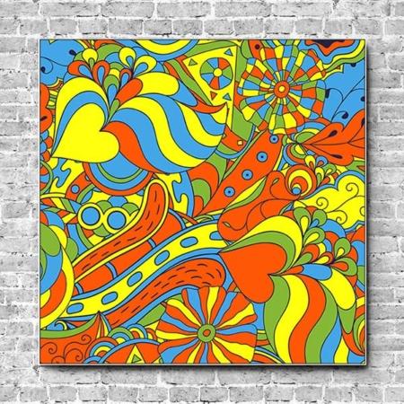 Stoffklang Akustikbild Quadrat Wand Pop Art