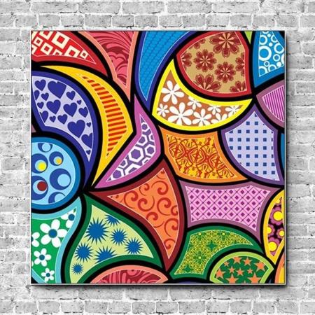 Stoffklang Akustikbild Quadrat Wand abstrakte Muster