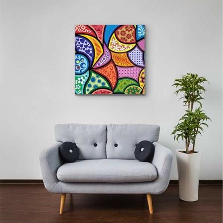 Stoffklang Akustikbild Quadrat Zimmer abstrakte Muster