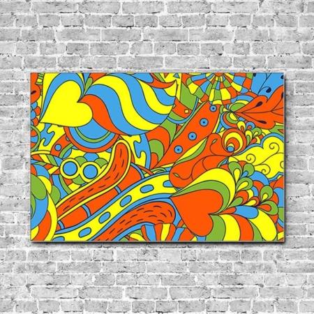 Stoffklang Akustikbild Querformat Wand