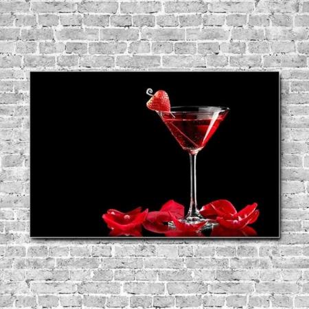 Akustikbild Cocktail Erdbeere Querformat