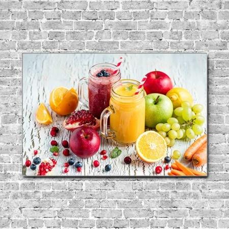 Akustikbild Früchte Smoothies Querformat