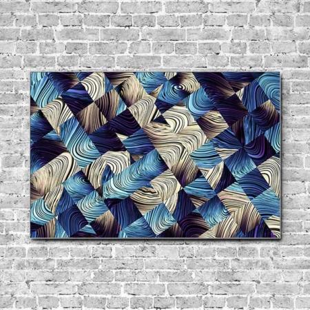 Stoffklang Akustikbild Querformat Wand Wellen abstrakt