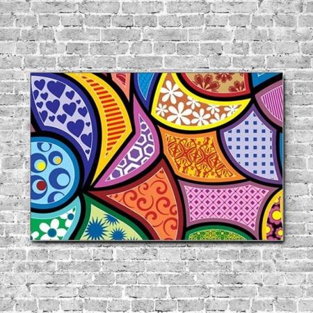 Stoffklang Akustikbild Querformat Wand abstrakte Muster