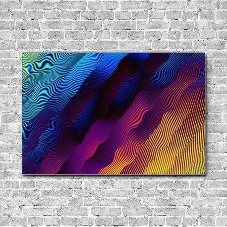 Stoffklang Akustikbild Querformat Wand psychedelisch