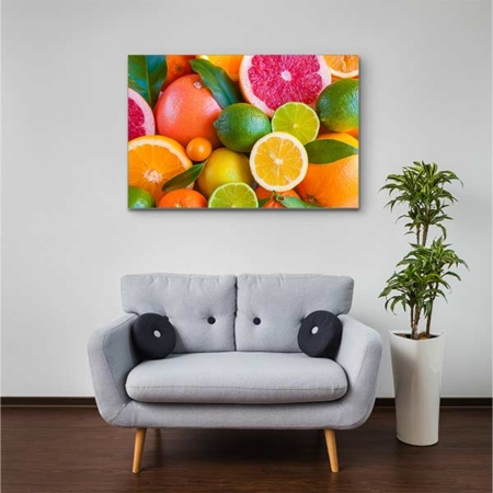 Akustikbild Zitrusfrüchte Querformat