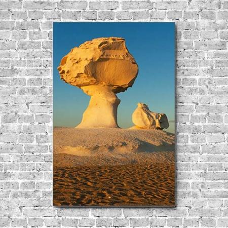 Stoffklang Akustikbild Hochformat Wand Wüste Stein Felsen