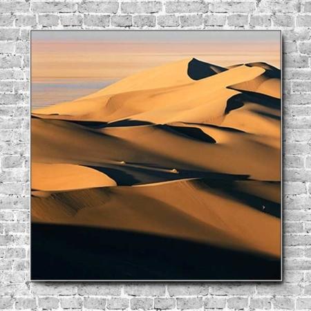 Stoffklang Akustikbild Quadrat Wand Wüste Düne Sand