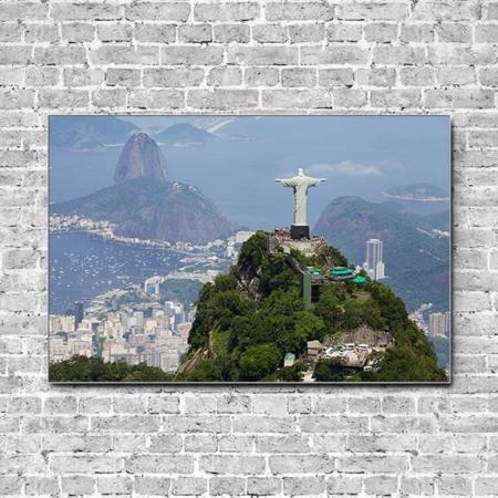 Stoffklang Akustikbild Querformat Wand Weltwunder Erlöserstatue in Rio
