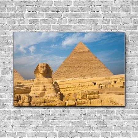 Stoffklang Akustikbild Querformat Wand Weltwunder Gizeh Ägypten Sphinx