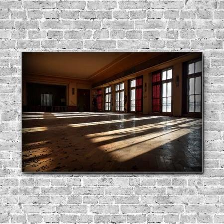 Stoffklang Akustikbild Querformat Wand Lost Place Licht und Schatten