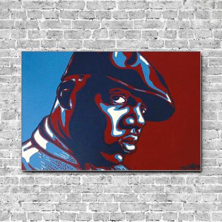 Notorious B.I.G. auf Stoff mit Akustik Dämmung